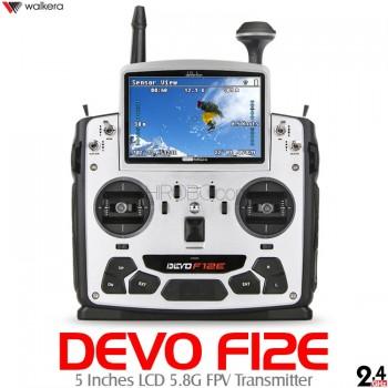 WALKERA (WK-DEVO-F12E) DEVO F12E 5 Inches LCD 5.8G FPV Transmitter with Aluminum Case - 2.4GHz