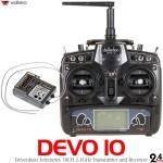 Walkera (WK-DEVO10-TXRX) DEVO 10 Devention Telemetry 2.4 GHz Radio w/ RX1002 Receiver