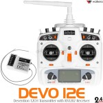 WALKERA DEVO 12E Transmitter with RX1202 Receiver (White)