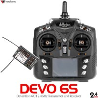 Walkera (WK-DEVO6S-TXRX) Devention 2.4 GHz Transmitter w/ RX601 Receiver