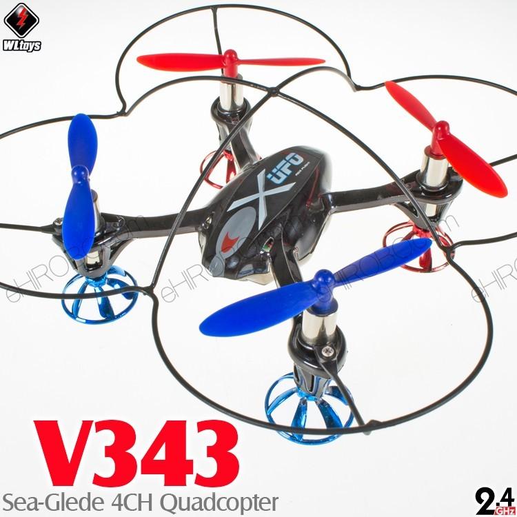 Wltoys Wl V343 Bk M2 Sea Glede 4ch Quadcopter Rtf Black Mode 2