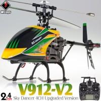WLTOYS (WL-V912-V2-G) Sky Dancer 4CH Upgraded Version Helicopter with Gyro System RTF (Green) - 2.4GHz