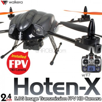 WALKERA Hoten-X FPV Gyro System HD Camera Brushless 4CH UFO with DEVO F7 Transmitter RTF - 2.4GHzReal Time FPV Object