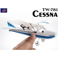 Lanyu (TW-781-B) 2CH Cessna EPO RTF Mini Aeroplane (White with Blue Stripe Pattern)