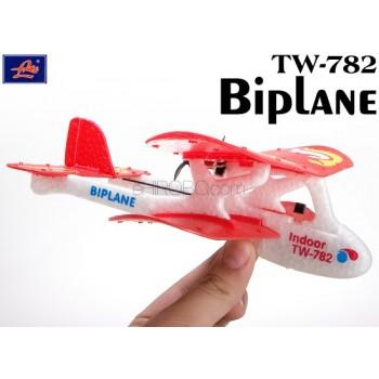 Lanyu (TW-782-A) 2CH Biplane EPO RTF Mini Aeroplane (Red)