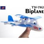 Lanyu (TW-782-B) 2CH Biplane EPO RTF Mini Aeroplane (Blue)