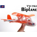 Lanyu (TW-782-D) 2CH Biplane EPO RTF Mini Aeroplane (Orange)