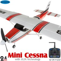 Skyartec (MNCE3X-01-R) Mini Cessna N9128 EPO 3G3X Flight-Stabilization System 3CH Brushless Airplane ARTF (Red) - 2.4GHz