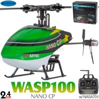 Skyartec (MNH02-2) WASP 100 NANO CP Flybarless 3 Axis Gyro 6CH Helicopter RTF (Cartoned) - 2.4GHz
