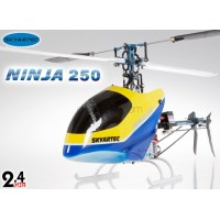 Skyartec (HN250-2) Ninja 250 6CH Metal Upgrade 3D Carbon Fiber Brushless Helicopter w/ Aluminum Carrying Case RTF - 2.4GHz