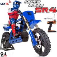 SKYRC (SK-SR4-B) Super Rider SR4 1/4 Scale RC Bike with electronic gyro RTR (Blue) - 2.4GHz