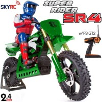 SKYRC (SK-SR4-G) Super Rider SR4 1/4 Scale RC Bike with electronic gyro RTR (Green) - 2.4GHz