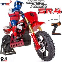 SKYRC (SK-SR4-R) Super Rider SR4 1/4 Scale RC Bike with electronic gyro RTR (Red) - 2.4GHz