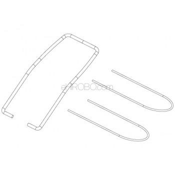 SKYRC (SK-700002-30) tail shelf axle & balance rodSR4 Motorcycle Parts