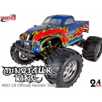 Smartech (ST-083410-BR) Minotaur King 4WD 1/8 Scale Offroad Nitro Monster Truck RTR (Blue/Red) - 2.4GHz