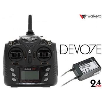 WALKERA (WK-DEVO7E-TXRX) DEVO 7E Devention 2.4GHz Transmitter with RX701 Receiver