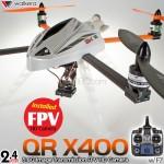 WALKERA QR X400 FPV HD Camera 6 Axis Gyro 4CH Brushless UFO with DEVO F7 Transmitter RTF - 2.4GHz
