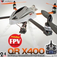 WALKERA QR X400 FPV HD Camera 6 Axis Gyro 4CH Brushless UFO with DEVO F7 Transmitter RTF - 2.4GHz