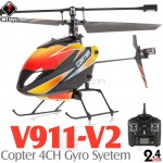 WLTOYS (WL-V911-V2-M2) Copter V2 4CH Helicopter with Gyropes System RTF (Mode2) - 2.4GHz