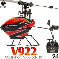 WLTOYS (WL-V922) Volitation 3 Axis Gyro 3D 6CH Flybarless Helicopter RTF - 2.4GHz