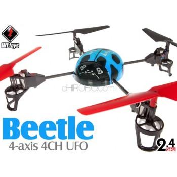 WLTOYS (WL-V929-B-M2) WL Beetle 4CH UFO RTF (Blue, Mode2) - 2.4GHzWLTOYS Helicopters
