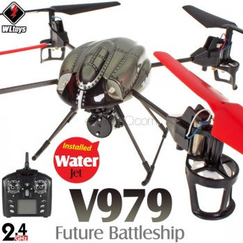 WLTOYS (WL-V979-M2) Future Battleship 4CH UFO with Water Jet RTF (Mode2) - 2.4GHzWLTOYS Helicopters