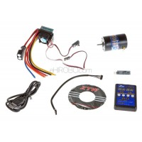 ZTW (ZTWSS60A+10.5T) 60A Sensored / Sensorless Brushless ESC Combo with 10.5T Sensored Motor, Setup Card and USB Interface